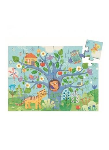 Djeco Djeco Dekoratif Puzzle 24 Parça/Hello Owl Pembe